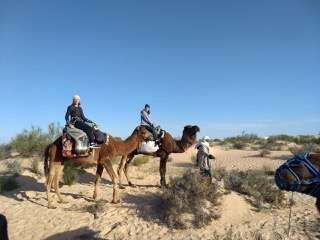 Christy & friend on camel trek