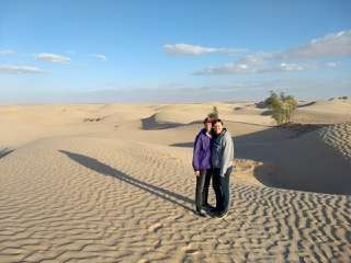 Christy & Friend in Sahara