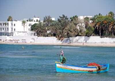 Fishing boat off shore of Hammamet