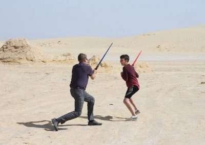 Jeff lightsaber duel
