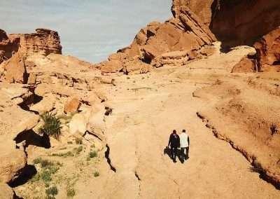 Men hiking in Sidi Bouhlel