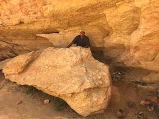 Randall at Jawa rock in Sidi Bouhlel