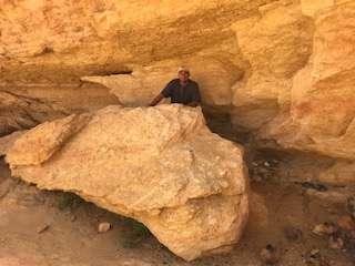 Randall at Jawa rock in Sidi Bouhlel